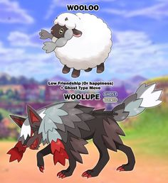 What if Wooloo had multiple evolutions based on friendship status. by uneventide Pokemon Fusion Art, Pokemon Fan Art, Pokemon Fake, Pokemon Oc, Pokemon Memes, Friendship Status, Cool Pokemon Cards, Pokemon Champions, Ghost Type