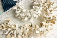 DIY Paper Scrap Garland. Great way to use up excess scrap paper :-).