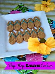 Flip Flop #Luau Cookies from Outnumbered 3 to 1