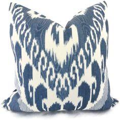 Indigo Ikat, Kravet Decorative Pillow Cover 18x18, 20x20, 22x22 or Lumbar Pillow, Accent Pillow, Throw Pillow, Pillow Cover