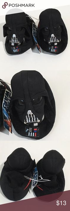 NWT Boys Star Wars Darth Vader Slippers XL 11-12 New with tags kids Star Wars Darth Vader slippers. Size XL 11/12 Star Wars Shoes Slippers