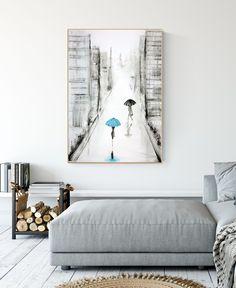 obraz malowany 70 x 100 cm, duża abstrakcja Modern Art, Abstract Art, Gallery Wall, Minimalist, Black And White, Blue, Painting, Etsy, Furniture