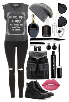 """Social Casualty"" by exoticdisney on Polyvore featuring Topshop, Wildfox, Lime Crime, Marc Jacobs, Roberto Cavalli, Essie, Lucky Brand, Quay, Converse and BCBGMAXAZRIA"
