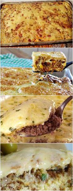 RECEITA DE TORTA DE CARNE MOIDA SUPER FÁCIL!!  VEJA AQUI>>>Untar a forma com margarina 1 camada de massa #receita#bolo#torta#doce#sobremesa#aniversario#pudim#mousse#pave#Cheesecake#chocolate#confeitaria Sandwiches, Cheesecake, 1, Chocolate, Meat Pie Recipes, Minced Beef Pie, Grated Cheese, Pudding, Dessert