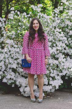 Modest Pink Summer Dress - A Sequin Love Affair