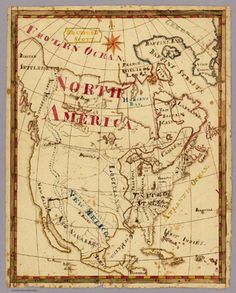19th century school children mapping - North America according to Bradford Scott (and his atlas)