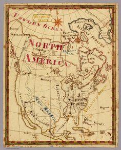19th century school children mapping - North America according to Bradford Scott (and his atlas)