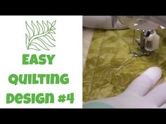 Learn how to machine quilt an easy Leafy Fern beginner level quilting design…