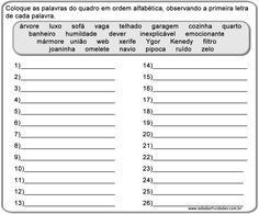 Atividades de alfabeto prontas para imprimirSala de Atividades