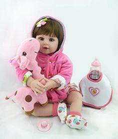 "20"" New arrival Handmade Silicone vinyl adora Lifelike toddler Baby Bonecas girl  kid doll bebe reborn menina de silicone"