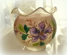 Vintage Art Glass Rose Bowl Hand Blown & by LionheartGalleries