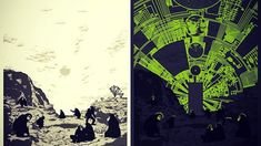 """Glow In the Dark """"2001: A Space Odyssey"""" poster by artist Chris Thornley - Imgur"""