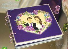 """Купить Свадебная книга пожеланий """"Жених и Невеста. Рисунок по фотографии. - книга пожеланий, книга для пожеланий"""