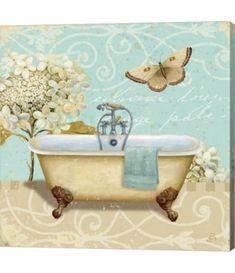 Great Big Canvas 'Light Breeze Bath I' Daphne Brissonnet Graphic Art Print Frames On Wall, Framed Wall Art, Framed Prints, Art Prints, Bathroom Prints, Bathroom Art, Bathrooms, Bathroom Vintage, Boho Bathroom