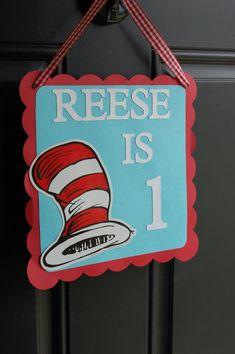 Items similar to Dr Seuss Door Sign, Dr Seuss Birthday, Dr Seuss Decorations, Birthday, Dr. Seuss Inspired on Etsy Dr Seuss Party Ideas, Dr Seuss Birthday Party, 1st Birthday Themes, Baby 1st Birthday, First Birthday Parties, Birthday Celebration, Birthday Wishes, Birthday Ideas, Birthday Recipes