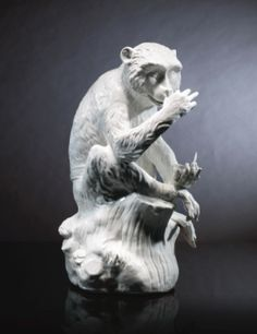 AN IMPORTANT AND RARE MEISSEN WHITE FIGURE OF A MONKEY CIRCA 1732 - Sothebys. Yours for just over £800,000.