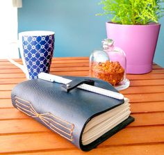 Dark blue leather journal by on Etsy Leather Journal, Dark Blue, Etsy, Handmade, Hand Made Gifts, Deep Blue, Leather Diary, Dark Teal, Craft