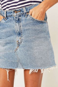 After Party Vintage Drifter Levi's Denim Skirt - Clothes | After ...