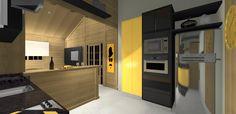 PROJETO 100 m2   SALA / COZINHA 3D 07