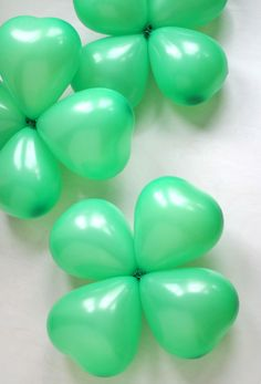 No luck needed to make these easy DIY shamrock balloons!
