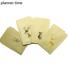 Vintage Deer Envelopes, Set of 12