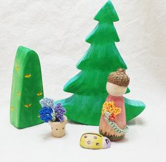 Handcrafted Forest and Flower Garden Set in by SimpleGiftsToys, $25.50