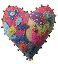 CRAZY PATCHWORK HEART