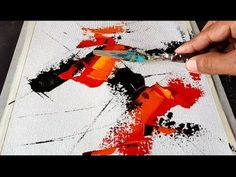 Abstract painting / EASY blending and palette knife technique / Demonstration - YouTube