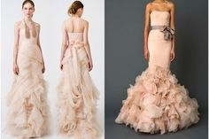 #blush colored #wedding #gowns