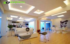 Deluxe living room ceiling design for home.