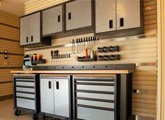 garage organization products Armoire Garage, Garage Cabinets, Garage Doors, Tool Cabinets, Modular Cabinets, Kitchen Cabinets, Garage Organization Tips, Garage Storage, Tool Storage
