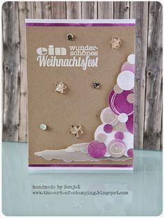 "untypische Weichnachtskarte | non-traditional Christmas card - Distress Inks, Stempelküche, Simon Says Stamp ""Scribble Flowers"""