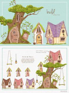 Fairy Clipart, Flower Clipart, Woodland Illustration, Graphic Illustration, Illustrations, Drawing Clipart, Fairy Garden Houses, Woodland Fairy, Photoshop Elements