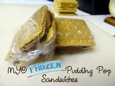 Frozen Pudding Pop Sandwiches-  An oh so simple frozen, almost like ice cream sandwich recipe that's sure to be a hit in your house.