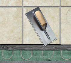 New Tile Floor with heat project open for   flooring contractors in somerset ,New Jersey