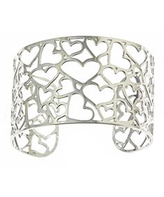 Kris Nations Silver Heart Cluster Cuff. Also in gold.