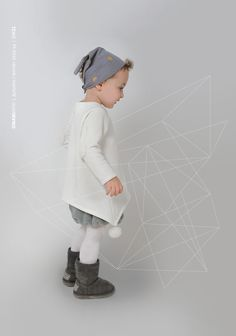 omamimini.shop.com // assymetrical tunic with pompoms // kids apparel by LA-based clothing brand