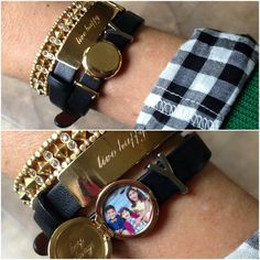Keep collective bracelet layering with engravable locket charm key! Www.keep-collective.com/with/Elle