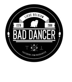 """Beaver Bad Dancer. I like the banner/shoe prints. Other then that it's a mix of every """"new design' style smashed into a circle."""