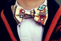 tribal bow tie.