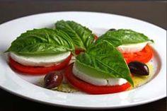 Tomato and mozarela starter