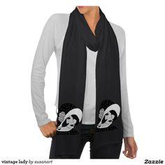 señora del vintage bufanda fina american apparel Sold!!