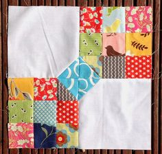 Quilt block-really like this one-the choice of fabrics will be all important.