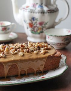 Food Lust People Love: Nordic Walnut Cake with Coffee Icing #FoodieExtravaganza