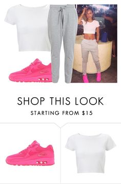 """""""Steal her style // karrueche trans"""" by aboveandbeyond ❤ liked on Polyvore featuring NIKE, Lipsy and VILA"""