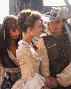 ELIZABETH SWANN, CAPTAIN JACK SPARROW & WILL TURNER