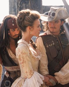 *ELIZABETH SWANN, CAPTAIN JACK SPARROW & WILL TURNER ~ Pirates of the Carribean