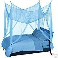 OctoRose  Teal Blue 4 Poster Bed Canopy Mosquito Net Full Queen King by  octorose.