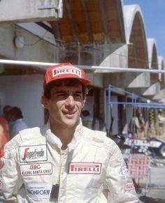 Ayrton Senna no início da carreira.