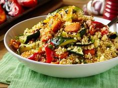 Looking for vegetarian recipes? This Couscous is a classic and a really light, tasty alternative if you are looking to try out a new dish. Roasted Vegetable Couscous, Roasted Vegetables, Couscous Recipes, Couscous Salad, Beef Recipes, Cooking Recipes, Healthy Recipes, Savoury Recipes, Healthy Food